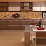 фотобои в интерьере кухни