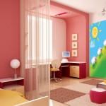 красивые детские фотообои в интерьере квартиры