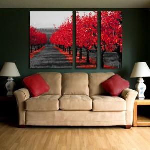 красные деревья фотобои на стену каталог