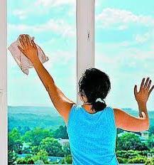 как мыть окна снаружи