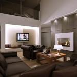 дизайн гостиной с камином фото картинки