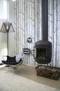 интерьер гостинной с камином 2011